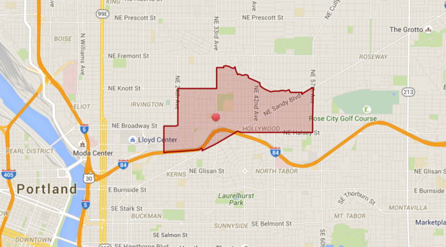 Beverly Cleary School boundary map